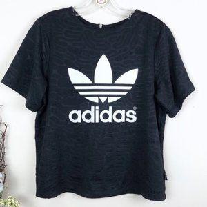 Adidas Trefoil Logo Black Graphic Top activewear